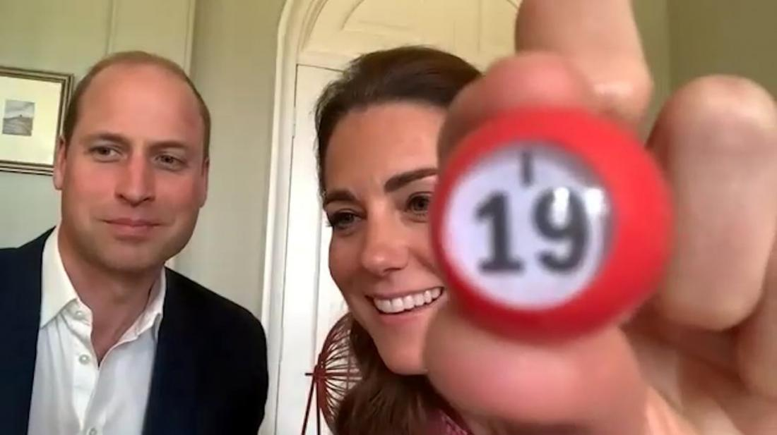 Kate in William sta prek videoklica igrala bingo