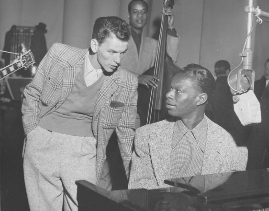 Dve legendi: Frank Sinatra in Nat King Cole. Foto: Getty Images