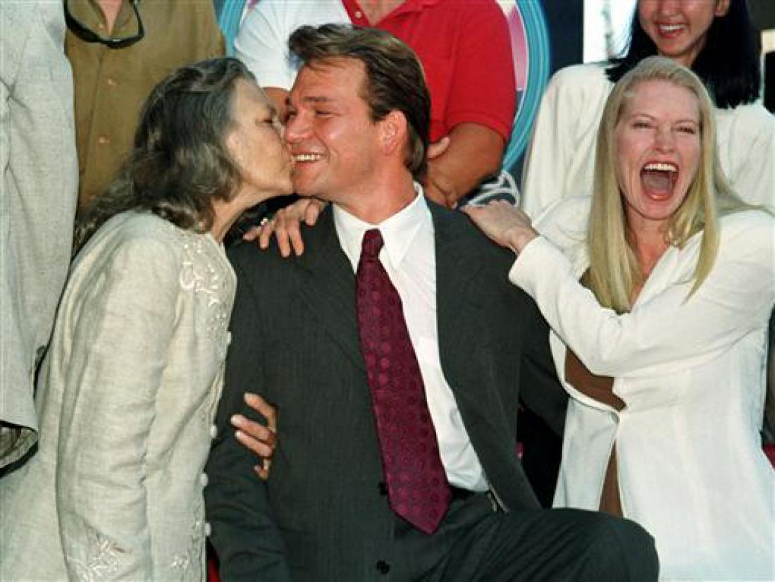 Swayze with mother Patsy and wife Lisa.